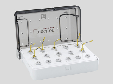 PIEZOSURGERY insert kit with all inserts for the preparation of implant sites