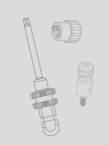 prosthectic components for the REX PiezoImplant clinical protocol