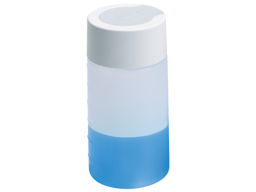plastic bottle (piezo smart), 300 ml, with grey complete bottle cap